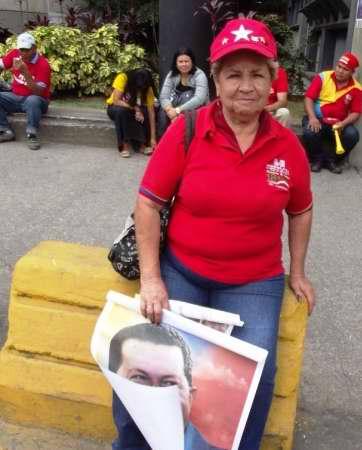 Pueblo venezolano apoya a Chávez. Foto Miozotis Fabelo
