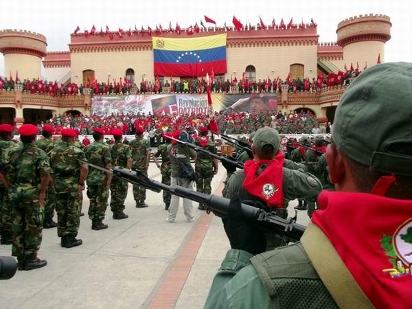 El programa conmemorativo incluy� una ceremonia y parada militar en la actual Comandancia General de la Milicia Bolivariana, en Caracas.