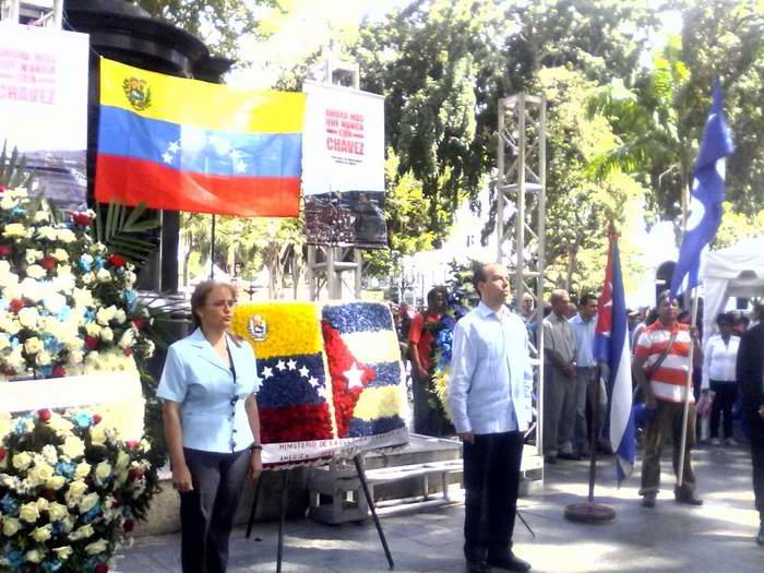 Venezuela celebra aniversario 135 de la primera visita de Martí a Caracas. Foto: Minoska Cadalso