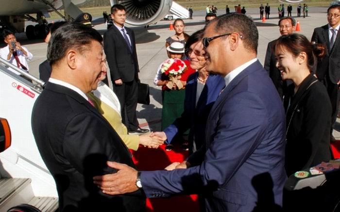 Xi Jinping es el primer presidente chino en visitar Ecuador.  Foto: EFE