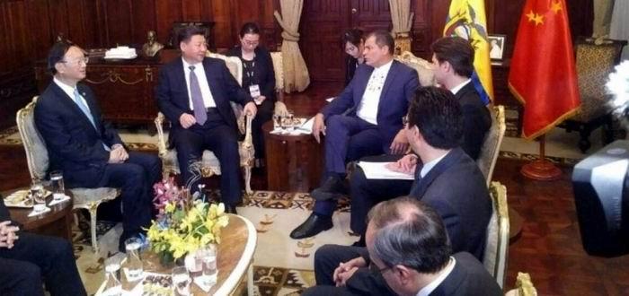 En el Palacio de Corondolet, en Quito, Correa resaltó el apoyo incondicional de China para el desarrollo de Ecuador