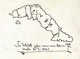 Mapa antiguo de Cuba