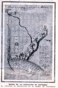 Mapa de fundación de Matanzas