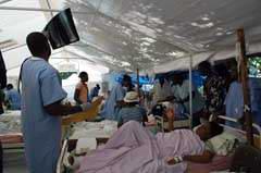 Hospital cubano en Haití