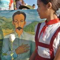 Homenaje de los pioneros a José Martí